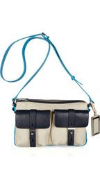 MARC BY MARC JACOBS  Werdie color-block leather shoulder bag  $330