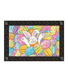 Look at this #zulilyfind! Bunny Eggs Doormat #zulilyfinds