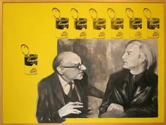 Andy Warhol - mixed media on canvas - silk print, acrylic, oil painting 100x120 cm, 2008