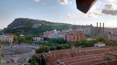 Montaña de Montjuic vista desde el mirador de Colón, Barcelona