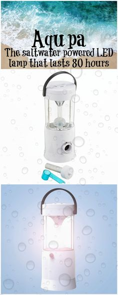 The Aqupa Lamp is powered by salt water, no dry cell batteries required and it can last up to 80 hours. Lightweight, convenient and safe.