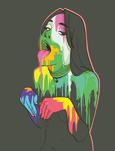 Sexy Drawings, Art Drawings, Tatoo Snake, Illustrations, Illustration Art, Kleidung Design, Comic Art Girls, Exotic Art, Arte Horror
