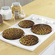 Animal Print Sink Mat & Strainer from Ginny's ® Cheetah Print Decor, Animal Print Decor, Leopard Print Outfits, Zebra Print, Animal Prints, Leopard Spots, Leopard Animal, Burner Covers, Stove Covers