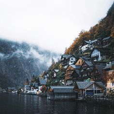 beautiful, hallstatt, and outdoor image View Photos, Cool Photos, Landscape Photography, Nature Photography, Earth Photos, Destination Voyage, Travel Abroad, Small Towns, Paris Skyline