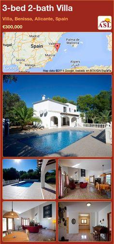3-bed 2-bath Villa in Villa, Benissa, Alicante, Spain ►€300,000 #PropertyForSaleInSpain