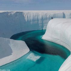 Ice Canyon, Greenland Looks so refreshing or like hypothermia. I'd still love to see this though.