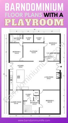 Metal Homes Floor Plans, Metal House Plans, Barn House Plans, New House Plans, Dream House Plans, Small House Plans, House Floor Plans, Morton Building Homes, Metal Building Homes