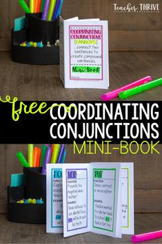 Teaching your students how to use coordinating conjunctions can be transformational for their writing. Free mini-book included.