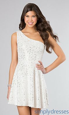 Short One Shoulder Dress at SimplyDresses.com for shower /engagement party