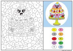 Lär dig räkna till tio genom att färglägga tårtan efter numren. Du får jättegärna ladda ner och färglägga denna bild för privat bruk och som till exempel skolmaterial. Däremot får du inte ladda ner...