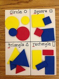 Sorting Shapes Sheet-nice assessment idea