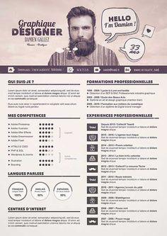 50 Simple & Creative Resume (CV) Design Ideas / Examples For 2017 & Beyond Conception Cv, Cv Photoshop, Resume Skills List, Cv Curriculum, Creative Curriculum, Cv Inspiration, Visual Resume, Resume Examples, Resume Ideas