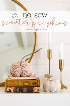 Upcycle your old sweaters and make these DIY sweater pumpkins! Easy no-sew fabric projects made from old sweater sleeves! Fabric Pumpkins, Painted Pumpkins, Soda Can Art, Sweater Pumpkins, Pumpkin Stem, Halloween Pillows, Diy Scarf, How To Make Diy, Diy Halloween Decorations