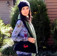 Knitted cloche and felted purse!