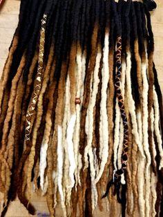 Items similar to Wool Dreadlocks Custom Wool Dreads Hair Extensions Wool Dreads set of 40 on Etsy Dreadlock Extensions, Dreadlock Styles, Dreads Styles, Curly Hair Styles, Natural Hair Styles, Hair Extensions, Wool Dreads, Synthetic Dreadlocks, Locs