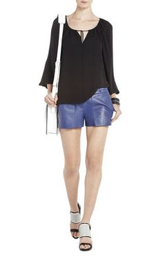 leather shorts in summer