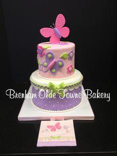 butterfly baby shower cakes | butterfly baby shower cake | Brenham Olde Towne Bakery