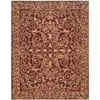 Chelsea Burgundy (Red) 8 ft. 9 in. x 11 ft. 9 in. Area Rug