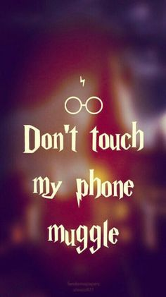 Don't touch my phone muggle