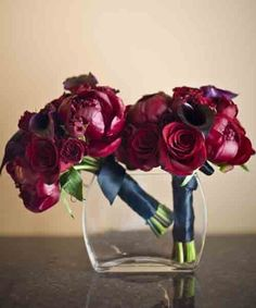 Bouquet Wednesday-Red Peony with Roses and Calla Lillies - Chicago ...