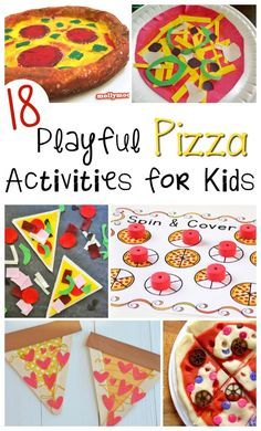 Are you looking for a fun pizza inspired craft or activity for kids? Check out this list of 18 Playful Pizza Activities for Kids that are perfect for children of all ages! These activities help kids work on many important skills such as eye-hand coordin Fun Activities For Kids, Preschool Activities, Games For Kids, Camping Activities, Family Activities, Projects For Kids, Crafts For Kids, Kids Work, Help Kids