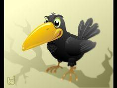 Мультфильм на песню о вороне. Рисованное видео