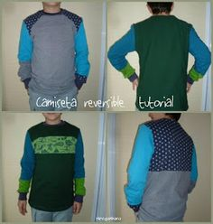 nireganbara: Camiseta reversible, tutorial