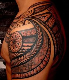 Amazing Maori Tribal Tattoo For Shoulder | Tattoobite.com