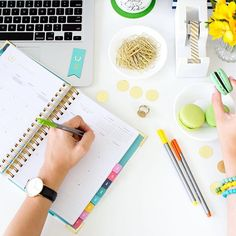 Planning tip: Utilize the notes column of the monthly view. It's a great place to keep track of those to-do's that don't have a specific date or for planning ahead! #SimplifiedPlanner // Emily Ley