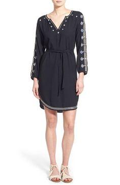 Velvet by Graham & Spencer Embroidered Shirtdress available at #Nordstrom