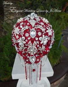 Hey, I found this really awesome Etsy listing at https://www.etsy.com/listing/200090285/cascading-brooch-bouquet-stunning-red