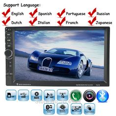 10 languages 2 DIN 7 inch Car Stereo MP5 Radio Player steering wheel control Touch Screen Bluetooth MP4 Player FM/TF/USB (32662901787)  SEE MORE  #SuperDeals