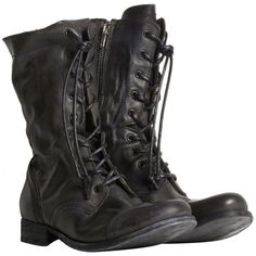 Military Boot ($299) ❤ liked on Polyvore featuring shoes, boots, footwear, sapatos, men, tall lace up boots, leather boots, high lace up boots, leather lace up boots and military fashion