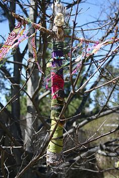 Make a garden Goddess on the lead up to May Day to watch over your garden over the summer :)