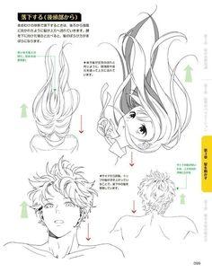 Top Tutorial and Ideas Manga Drawing Tutorials, Drawing Tips, Art Tutorials, Manga Tutorial, Art Reference Poses, Drawing Reference, Hair Reference, Manga Japan, Art Sketches