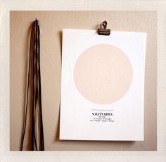 Sky Maps Astrological Print by HANDSworkshop on Little Paper Planes