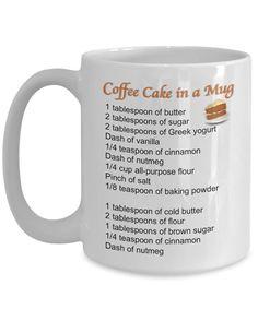 Mug Cake Recipes Cake Mug Cake in a Mug Mug Recipes Recipe Mug Cinnamon Cof Mug Recipes, Cake Recipes, Dessert Recipes, Desserts, Cheap Recipes, Healthy Recipes, Dessert Food, Quick Recipes, Recipes Dinner