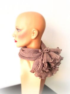 Hand Knit Scarf  Dusty Onion Pink Scarf  Women by InkaBoutique, $30.00