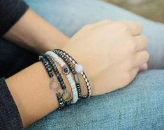 Diamond Druzy Sapphire Bracelet / Decadent Luxury by byjodi