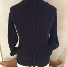 """HALOGEN BLACK JACKET from Nordstroms Very nice zip-up 98% cotton/2% nylon/2%spandex.. Black jacket. Small waffle weave on arms. 16 1/2"""" chest-arms 27 1/2"""" from neck -length 21"""". Good condition! Halogen Jackets & Coats"""