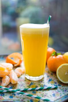 Anna Jones' Citrus Rehydrator is the perfect, natural post-workout thirst quencher. You'll need lemons, clementines, a pinch of sea salt (we lose a lot salt through sweat when we exercise, so adding salt is only necessary if you're drinking this after a workout!), maple syrup and water.