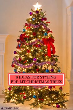 6 ideas for styling pre lit christmas trees this year - Alternative Christmas Tree Decorations