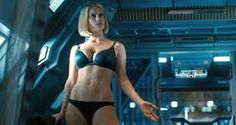 Alice Eve in Star Trek into Darkness! We trained over the Xmas period for this film and only took Xmas day off!