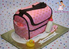 Diaper Bag Cake, Beautiful Cakes, Lunch Box, Gucci, Desserts, Bags, Babyshower, Shower Ideas, Food