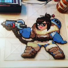 Mei - Overwatch perler beads by shemehay