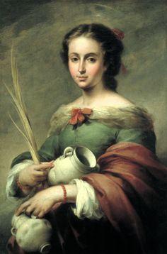 Bartolome Esteban Murillo (Spanish: 1617-1682) - Santa Rufina, 1665