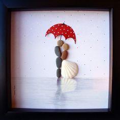 Unique cadeau de mariage - cadeau de fiançailles - Noël cadeau - Couple cadeau - cadeau de lamour - mariée et le marié cadeau - galet Art de célébrer
