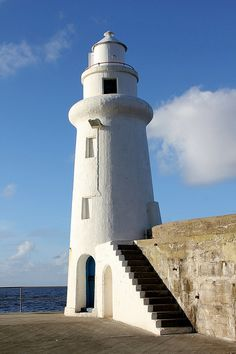 MACDUFF Harbour lighthouse.Moray Firth Scotland