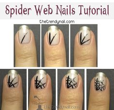 spider-Web-Nail-Art