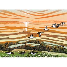 'Salt Marsh At Low Tide' by Printmaker Rob Barnes. Blank Art Cards By Green Pebble. www.greenpebble.co.uk Salt Marsh, British Seaside, Art Cards, New Print, White Envelopes, Printmaking, My Arts, Sketches, Fine Art
